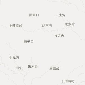 四子王旗到石宝的地图