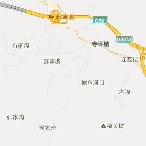 保康县寺坪镇交通地图