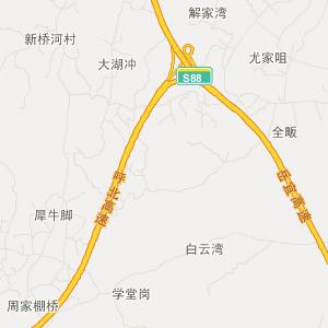 卫星地图 远安县行政区划地图