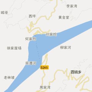 巴东县交通地图 === 水布垭镇资讯概况