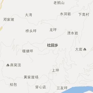 五峰县交通地图