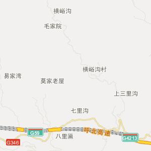 房县青峰镇交通地图_中国电子地图网图片