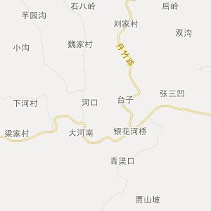 陕西旅游地图 商洛旅游地图