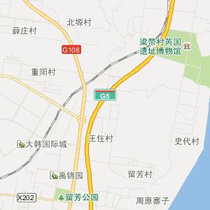 陕西交通地图 渭南交通地图