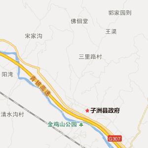 榆林子洲旅游地图_子洲在线旅游图