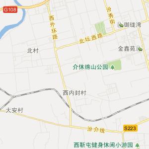 晋中介休旅游地图_介休在线旅游图