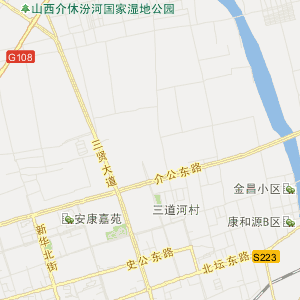 张兰到太原地图