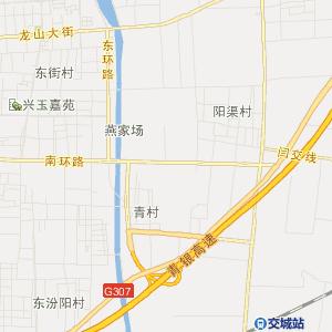 山西省交通地图 吕梁市交通地图