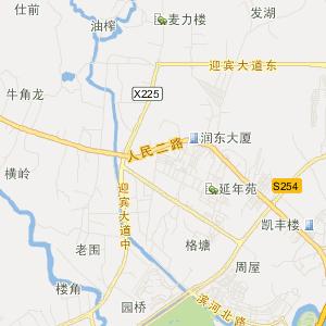 永湖旅游地图 良井旅游地图