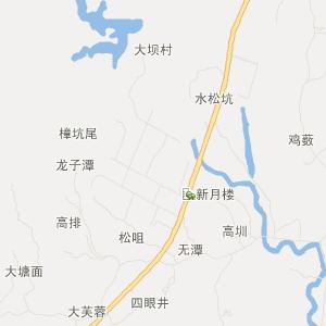 鹤山鹤城交通地图