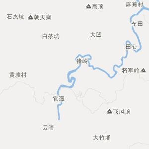 广东旅游地图 清远旅游地图
