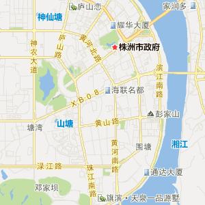 湖南交通地图 株洲交通地图