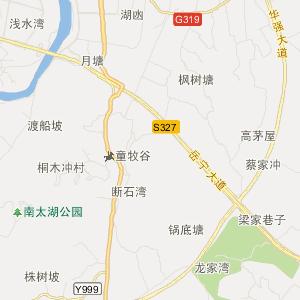 长沙宁乡旅游地图_中国电子地图网