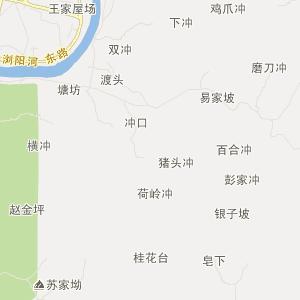 浏阳大围山地图