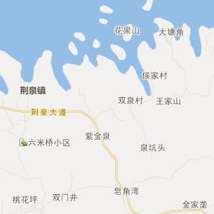 赤壁陆水湖交通地图
