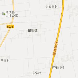 河南省交通地图 焦作市交通地图