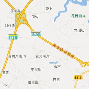 二七区侯寨乡交通地图图片
