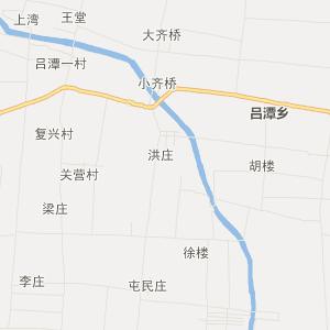 河南省交通地图 周口市交通地图