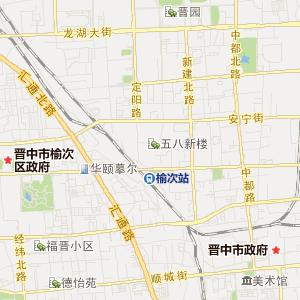 山西省交通地图 晋中市交通地图