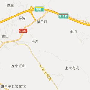 阜平县阜平镇旅游地图图片