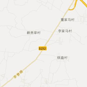 曲阳县庄窠乡交通地图