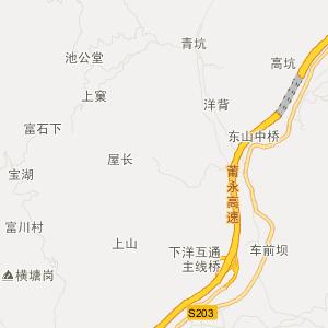 永定县下洋镇交通地图查询_下