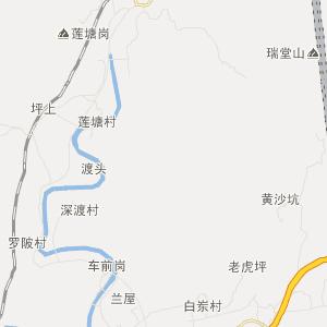 永定县湖雷镇高清交通地图