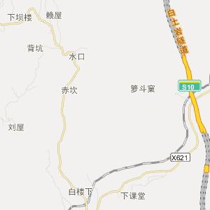 永定县堂堡乡交通地图