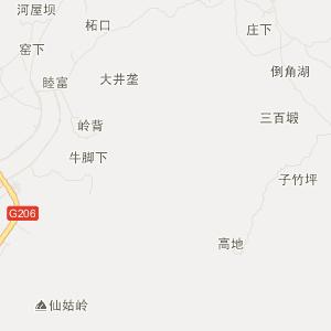 金华四顾屏山地图