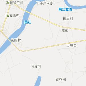 鄱阳县鄱阳镇卫星地图