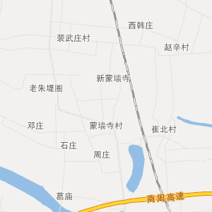 梁园区双八镇交通地图