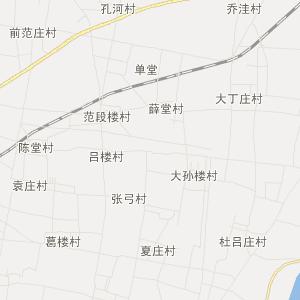 台前县清水河乡交通地图