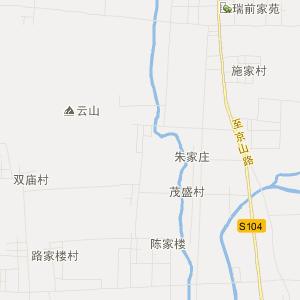 宁阳县鹤山乡旅游地图