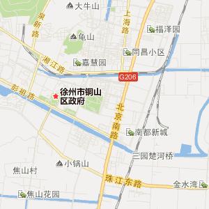 徐州铜山旅游地图_中国电子地图网