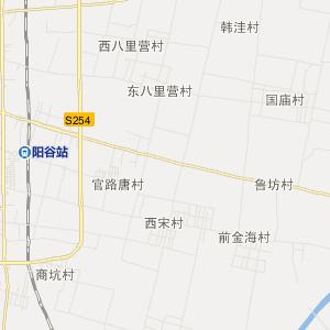 山东旅游地图 聊城旅游地图