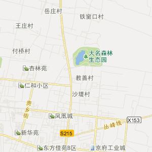河北省旅游地图 邯郸市旅游地图
