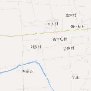 章丘市高官寨镇交通地图