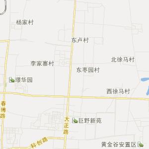章丘龙山高清交通地图