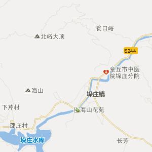 章丘市垛庄镇交通地图_垛庄镇