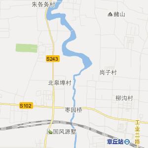 济南市章丘市交通地图