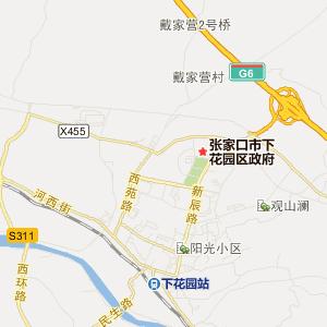 下花园区城镇街道旅游地图
