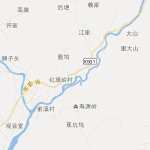 常山芳村交通地图_中国电子地图网图片