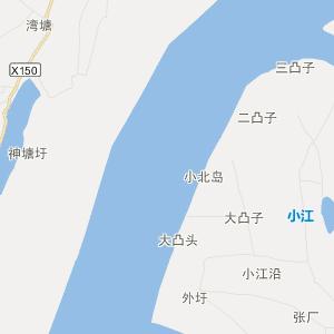 无为县白茆镇旅游地图