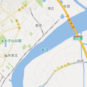 六合区西厂门街道旅游地图