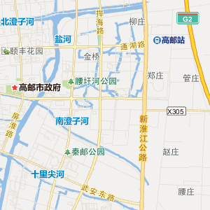 扬州高邮交通地图_中国电子地图网