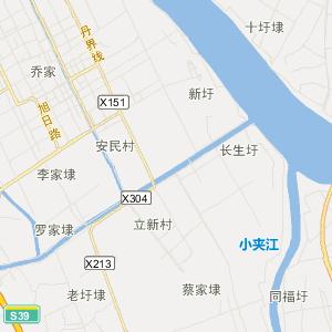 扬中西来桥高清旅游地图