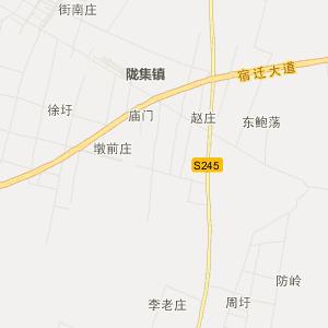 沭阳北丁集交通地图_中国电子地图网