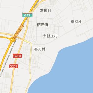赣榆柘汪交通地图_中国电子地图网