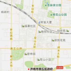 章丘市明水街道交通地图查询