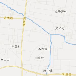淄川到沂源地图